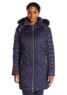 Kenneth Cole Women's Plus-Size Diamond Quilt Down Coat