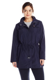 Kenneth Cole Women's Plus-Size Zip Front Anorak with Hood