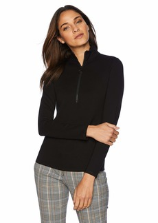 Kenneth Cole Women's Ponte Turtle Neck TOP  M