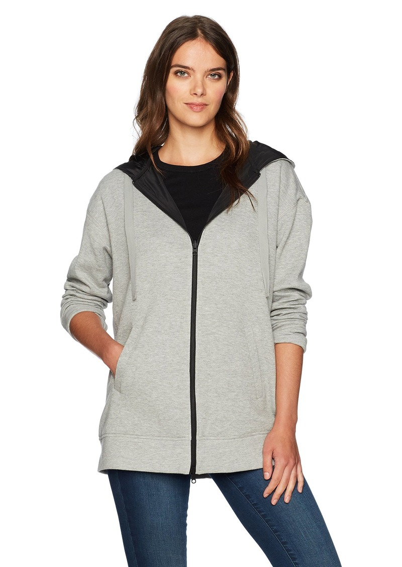 KENNETH COLE Women's Reversible Outerwear Hoodie  M