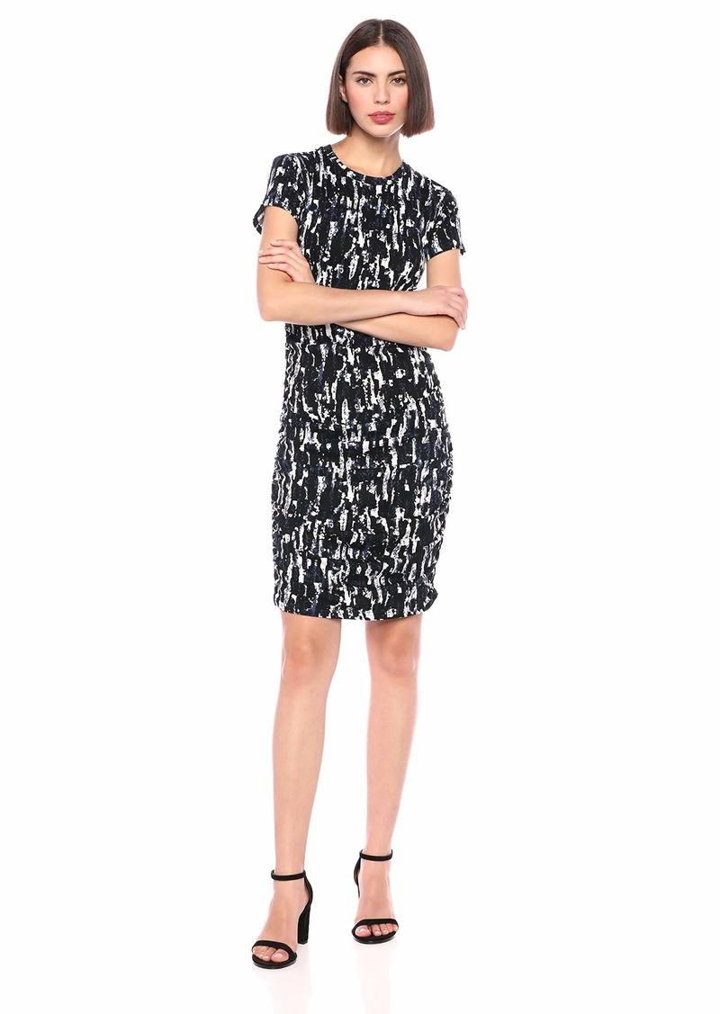 Kenneth Cole Women's Ruched Knit Dress  L