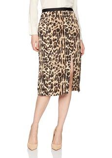 Kenneth Cole Women's Satin Slit Skirt