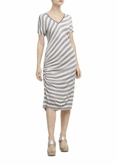 Kenneth Cole Women's Side Ruched Dress  L