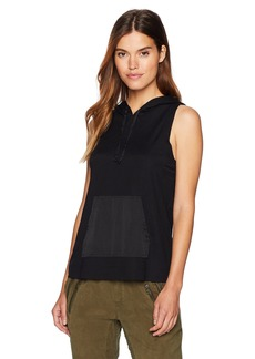 Kenneth Cole Women's Sleeveless Hoodie Top  L
