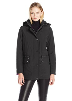 Kenneth Cole Women's Soft Shell Jacket With Interior Puffer Lining