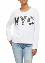Kenneth Cole Women's Swing Back Sweatshirt