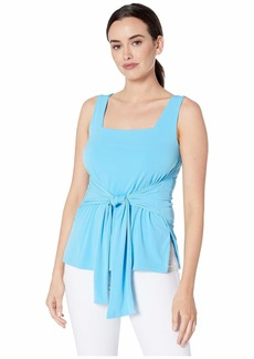 Kenneth Cole Women's TIE Front Knit Tank