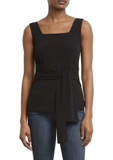 KENNETH COLE Women's TIE Front Knit Tank  edium