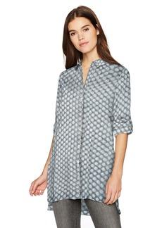 Kenneth Cole Women's Tunic Shirt Frosty dot XL