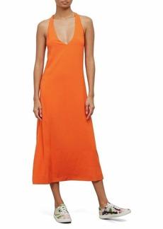 Kenneth Cole Women's Twist Back Tank Dress Mandarin red M