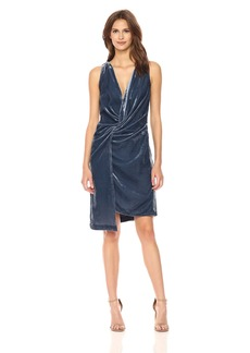 Kenneth Cole Women's Twist Wrap Velvet Dress