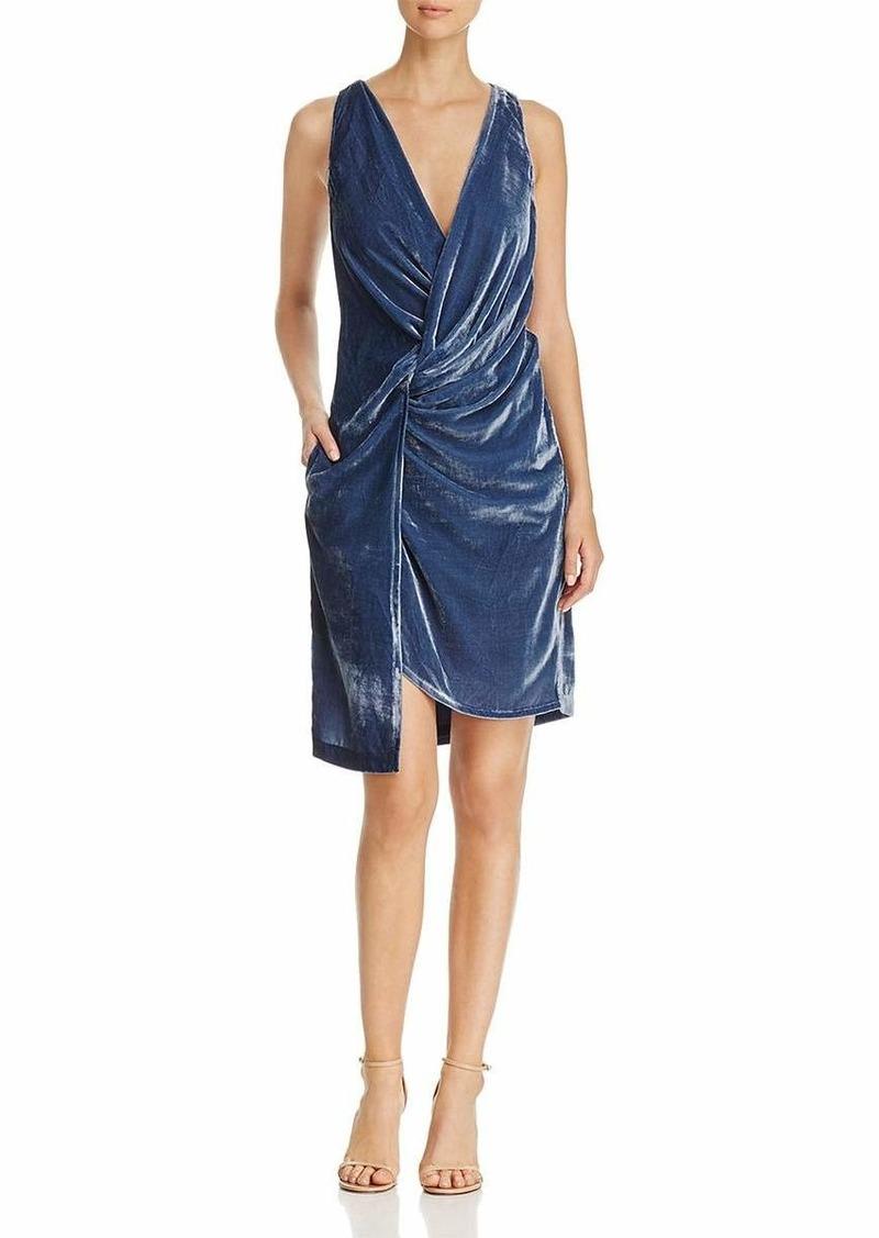 Kenneth Cole Women's Twist Wrap Velvet Dress