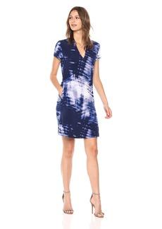 Kenneth Cole Women's V-Neck Dress with Pockets Mood Indigo/Blue cm S