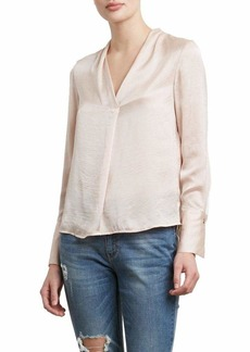 Kenneth Cole Women's V-Neck Long Sleeve Blouse Peachy keen