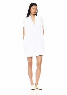 Kenneth Cole Women's V-Neck Tuck Dress  M