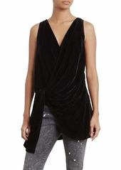 Kenneth Cole Women's Velvet Drape Wrap Top