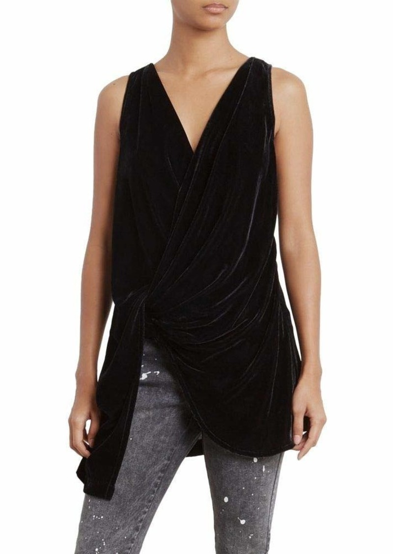 Kenneth Cole Women's Velvet Drape Wrap Top