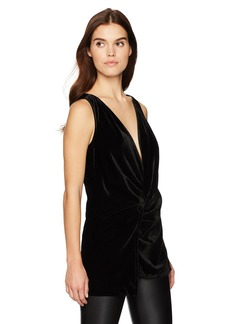 Kenneth Cole Women's Velvet Drape Wrap Top  M