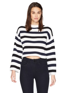 Kenneth Cole Women's Wide Sleeve Stripe  M