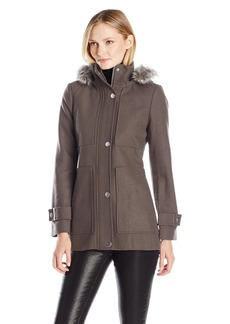 Kenneth Cole Women's Wool Baby Doll Coat
