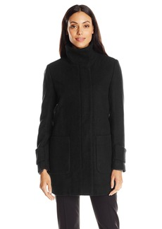 Kenneth Cole Women's Wool Coat with Front Pockets