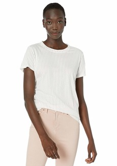 Kenneth Cole Women's WRAP Around You Knit TEE PIN DOT Van BLK S