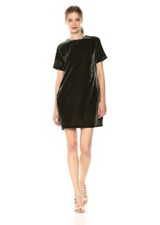 Kenneth Cole Women's Zip Shoulder T-Shirt Dress  L