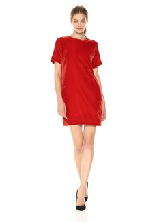 Kenneth Cole Women's Zip Shoulder T-Shirt Dress  M
