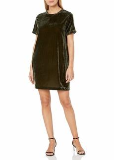 Kenneth Cole Women's Zip Shoulder T-Shirt Dress  L