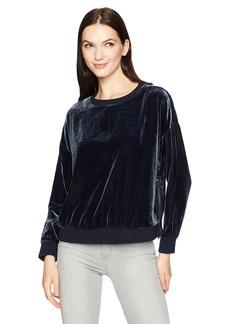 Kenneth Cole Women's Zipper Velvet Sweatshirt  L