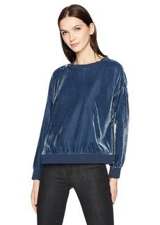 Kenneth Cole Women's Zipper Velvet Sweatshirt  S