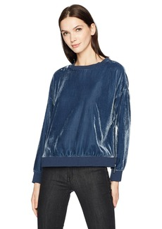 Kenneth Cole Women's Zipper Velvet Sweatshirt  XL