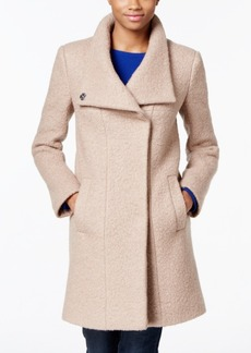 Kenneth Cole Stand Collar Wool-Blend Walker Coat
