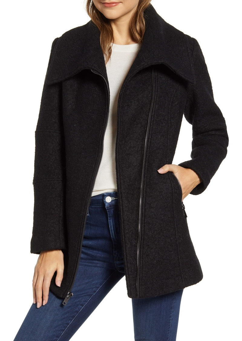 Kenneth Cole Wool Blend Bouclé Car Coat
