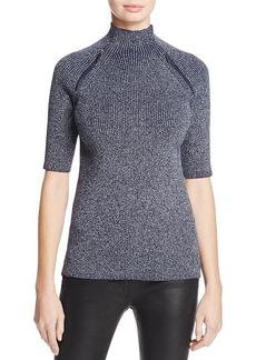 Kenneth Cole Zip Detail Metallic Sweater