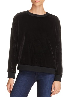 Kenneth Cole Zip-Detail Velvet Sweatshirt