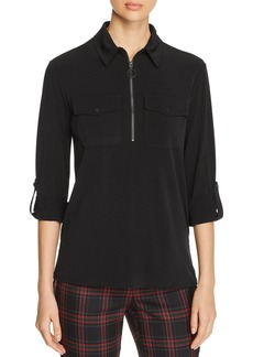 Kenneth Cole Zip-Front Top