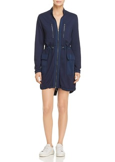 Kenneth Cole Zip-Front Utility Dress