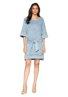 Kenneth Cole Kimono Sleeved Tie Front Dress