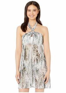 Kenneth Cole Leaf It To Me Keyhole Halter Dress Cover-Up