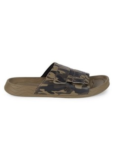 Kenneth Cole Leather Camouflage Slides