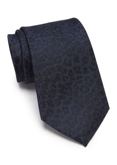 Kenneth Cole Leopard Embossed Silk Blend Tie