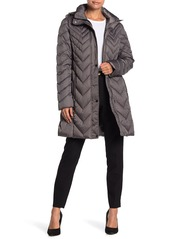 Kenneth Cole Long Quilted Coat