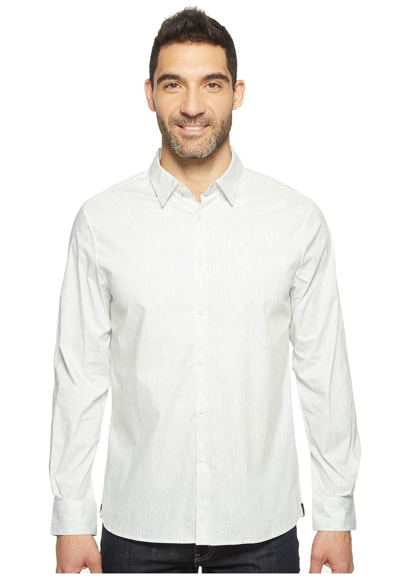 Kenneth Cole Long Sleeve Abstract Slim Print Shirt