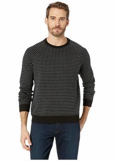 Kenneth Cole Long Sleeve Alternative City Grid Raglan Sweater