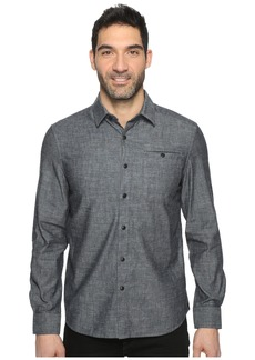Kenneth Cole Long Sleeve Button Down Collar Solid Flannel