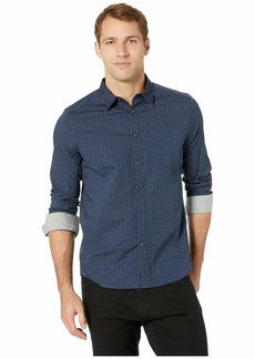 Kenneth Cole Long Sleeve Dot Print Woven