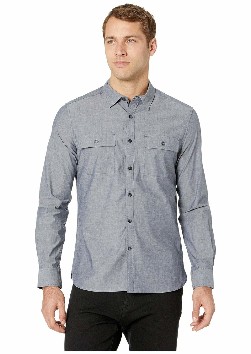 Kenneth Cole Long Sleeve Dynamic Two-Pocket Shirt - Chambray
