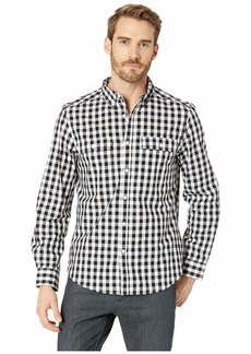 Kenneth Cole Long Sleeve Gingham Two-Pocket Shirt