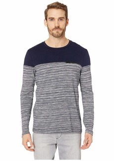 Kenneth Cole Long Sleeve Space Dye Crew w/ Zip